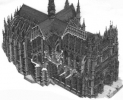 Amiens Spaccato cattedrale
